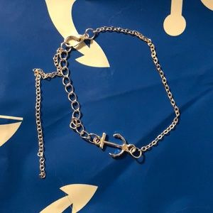 Jewelry - Silver anchor anklet